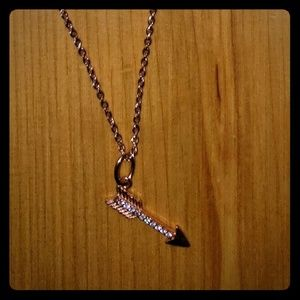 Origami Owl Rose Gold colored Arrow Necklace